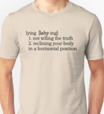 Definition of Lying Unisex T-Shirt