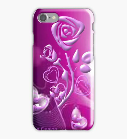 Roses and hearts design ( 3183 Views) iPhone Case/Skin