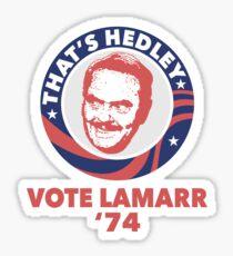 VOTE HEDLEY Sticker