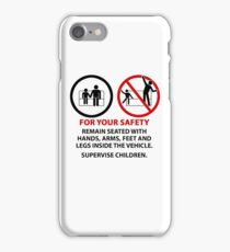 For Your Safety - No Dancing Warning (Stacked) iPhone Case/Skin