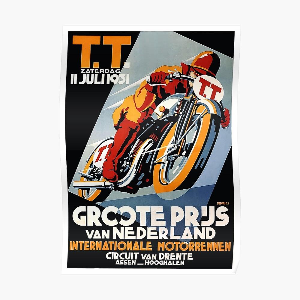 1931 Niederlande Motorrad Rennen Poster Poster