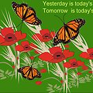 Poppies and butterflies (2891 Views) by aldona