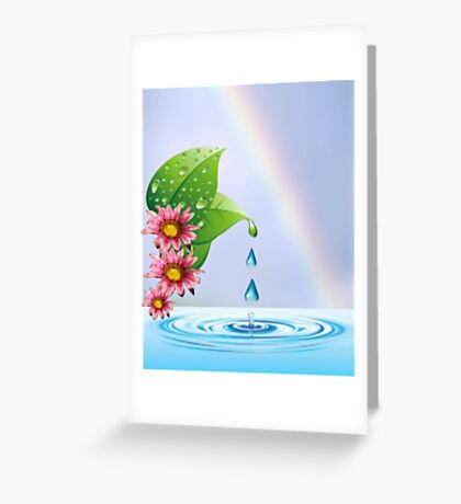 Water droplets (6432  Views) Greeting Card