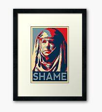 Shame Framed Print