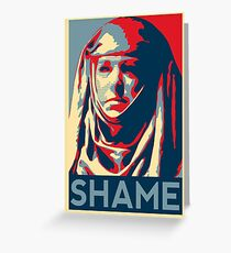 Shame Greeting Card