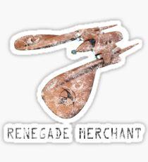 Renegade Merchant - with retro font - distressed Sticker
