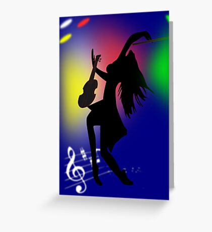 On Stage(2854 Views) Greeting Card