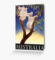 1956 Australia Koalas Travel Poster Greeting Card