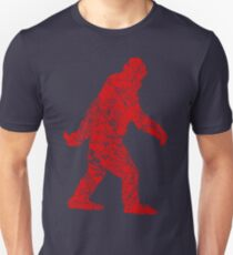 Gone Squatchin in Grunge Distressed Style Unisex T-Shirt