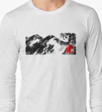 Japanese snow mountain scene T-Shirt