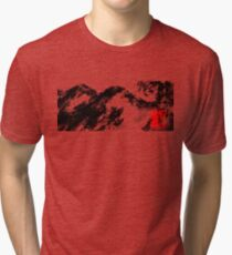 Japanese snow mountain scene Tri-blend T-Shirt