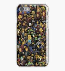 Simpsons style characters iPhone Case/Skin