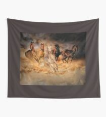 Only dust from under the hooves Wall Tapestry