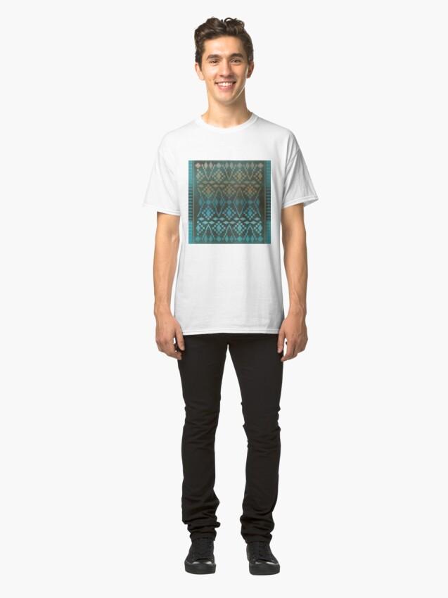 Alternate view of Aqua Southwest Ombre' Classic T-Shirt