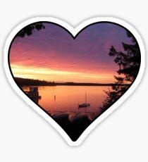 Chippewa Ranch Camp Sunset Sticker