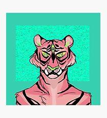 Pink Tiger Photographic Print