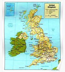 UNITED KINGDOM (MAP) Poster