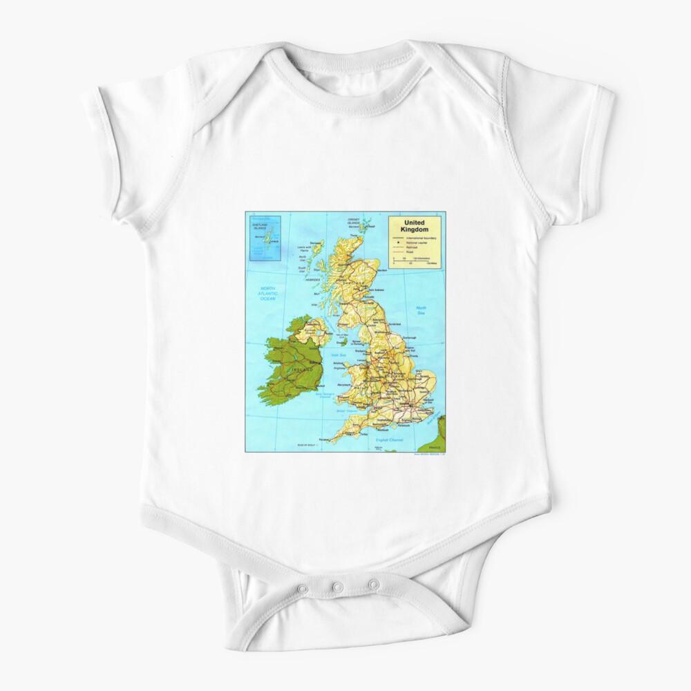 UNITED KINGDOM (MAP) Baby One-Piece
