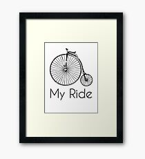 Penny Farthing Bike Ride Framed Print