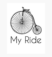 Penny Farthing Bike Ride Photographic Print