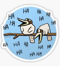 Cute Laughing Kookaburras Sticker