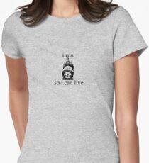 I Run - black Womens Fitted T-Shirt