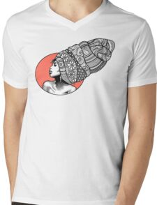 Tribal Head Piece Mens V-Neck T-Shirt