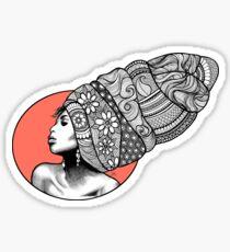 Tribal Head Piece by K80designs Sticker