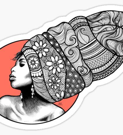 Tribal Head Piece Sticker