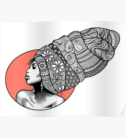 Tribal Head Piece Poster