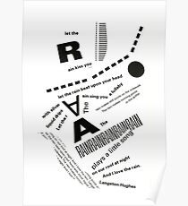 Rain Poem Typography 2 Poster