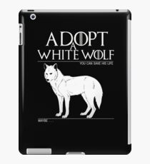 Adopt a white wolf. iPad Case/Skin