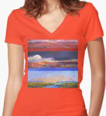 Three [Changes] Women's Fitted V-Neck T-Shirt