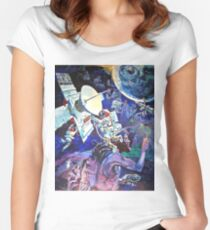 Spaceship Earth Mural Fitted Scoop T-Shirt