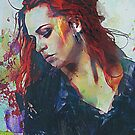 Mostly - Abstract Portrait by Galen Valle