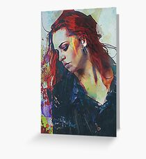 Mostly - Abstract Portrait Greeting Card