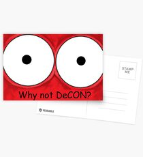 Why not DeCON? Postcards
