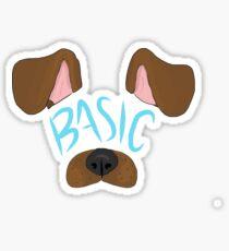 Basic Girl's Snapchat Filter Sticker