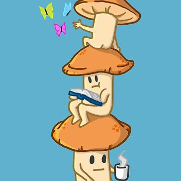 A Mushroom Cluster's Everyday Life by Astralberry