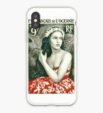 1955 French Polynesia Girl of Bora Bora Postage Stamp  iPhone Case