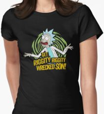 Rick and Morty get Riggity Womens Fitted T-Shirt