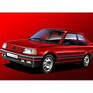 Poster artwork - Peugeot 309 GTI by RJWautographics