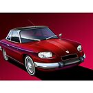 Poster artwork - Panhard 24CT by RJWautographics