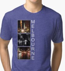 Melbourne shines at night Tri-blend T-Shirt
