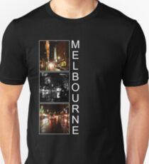 Melbourne leuchtet nachts Slim Fit T-Shirt