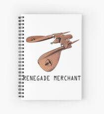 Renegade Merchant - with retro font Spiral Notebook