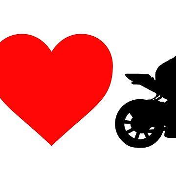 Ich liebe Motorräder Damen Shirt von BeyondEvolved