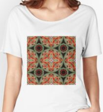 Seamless beautiful antique pattern ornament. Geometric background design, repeating texture. Women's Relaxed Fit T-Shirt