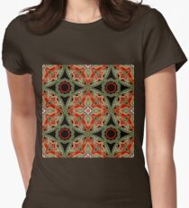 Seamless beautiful antique pattern ornament. Geometric background design, repeating texture. Womens Fitted T-Shirt