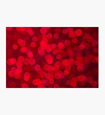Red bokeh Photographic Print